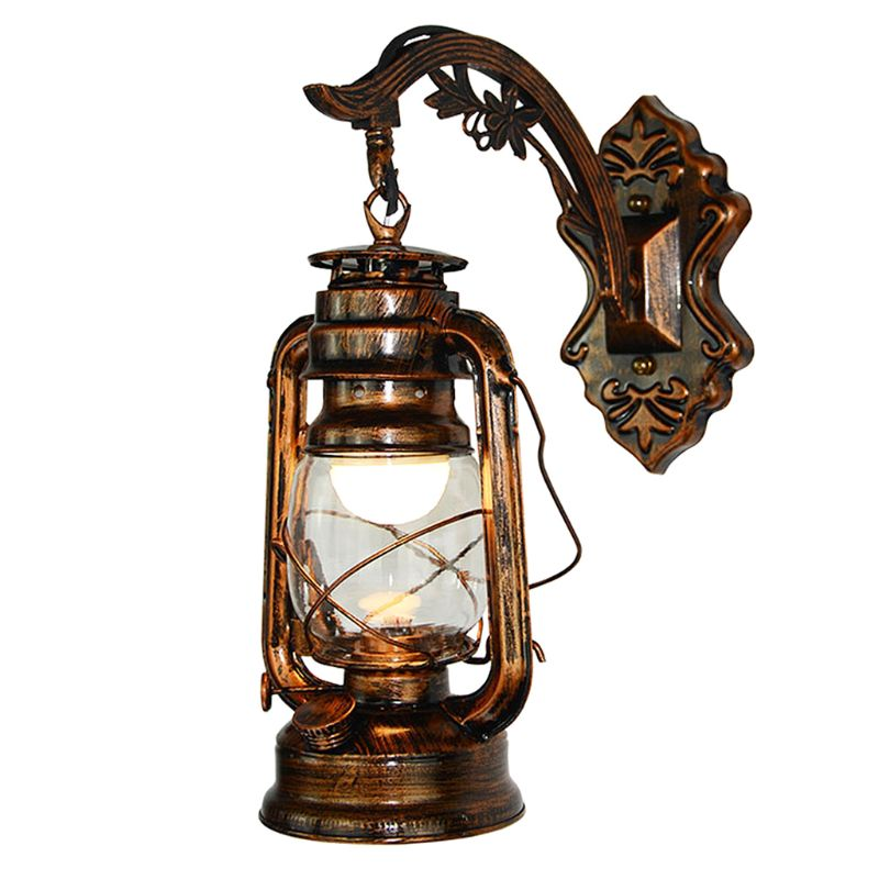 Vintage LED Wall Lamp Barn Lantern Retro Kerosene Wall Light European Antique Style|LED Indoor Wall Lamps| |  - title=