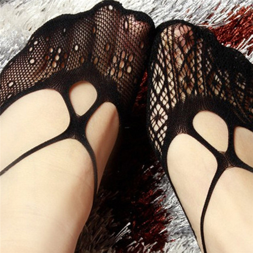 Black Hollow Invisible Socks Non Slip Summer Socks Solid Liner Popsocket Sock Slippers Breathable Calcetines De Verano 30APR3009