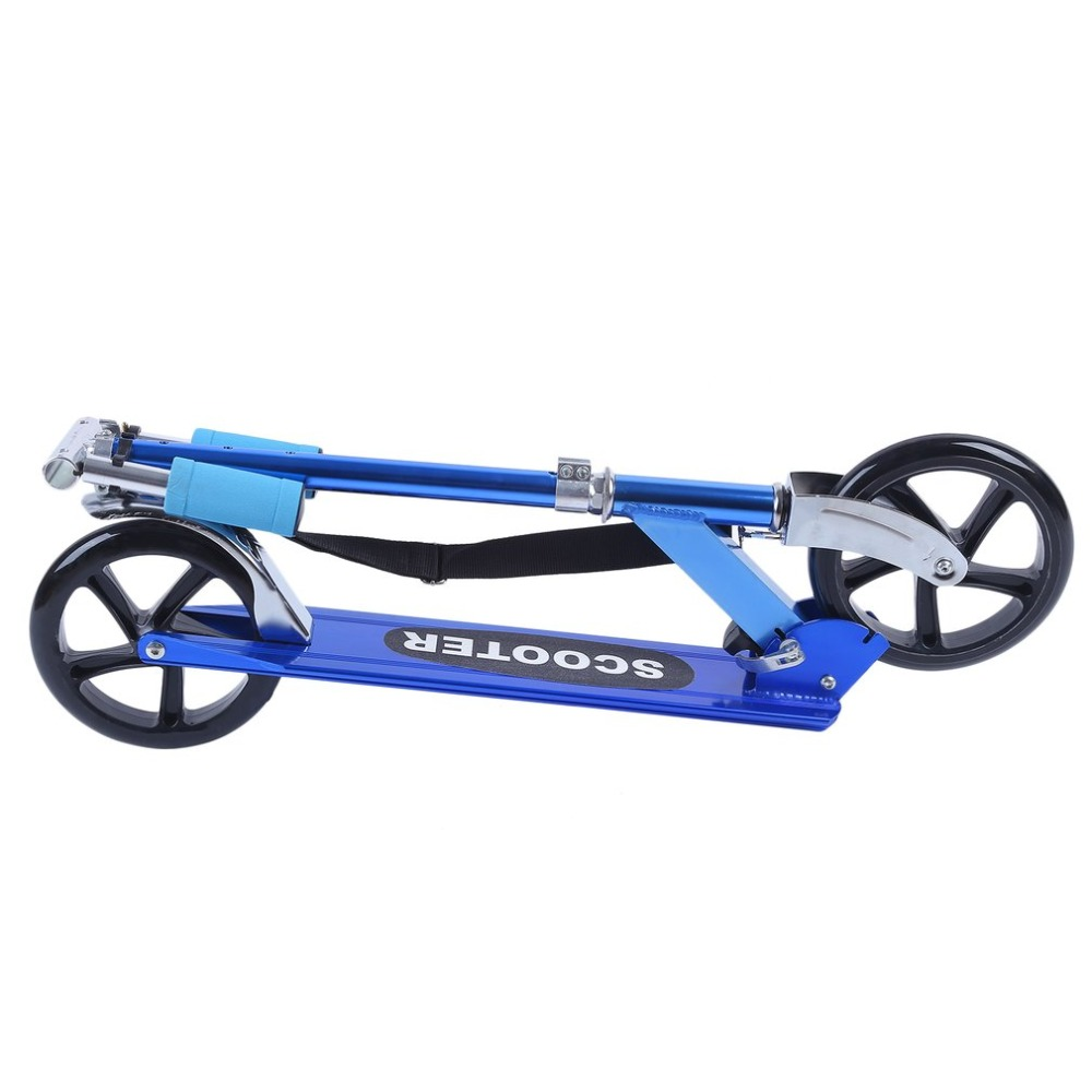 Men Women Outdoor Folding Kick Scooter For Kids 2 PU Wheel Aluminum Scooters Height Adjustable Exercise Skateboard Max Load 90kg