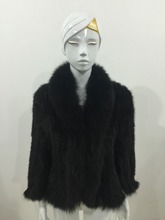 The fox really flash mink woven batwing coat