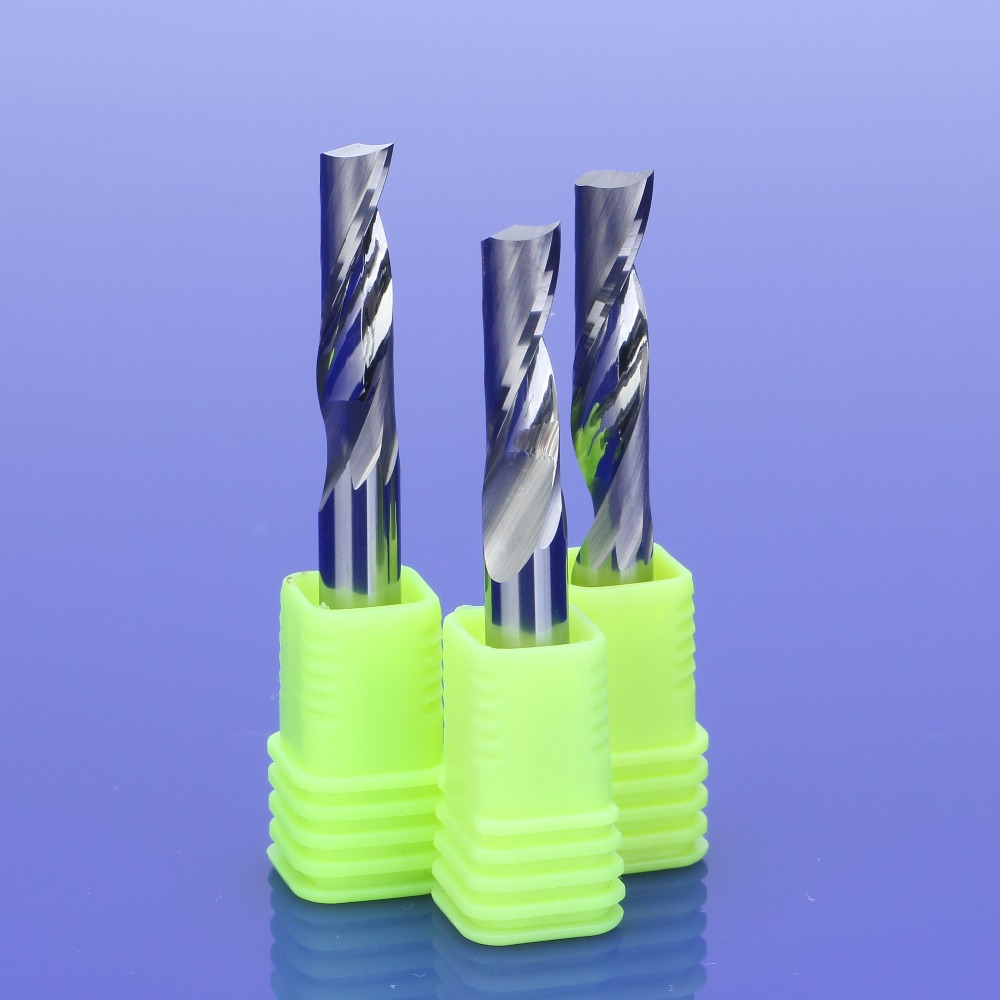 5Pcs 6mm Single Flute Milling Cutters For Aluminum CNC Tools Solid Carbide,aluminum Composite Panels