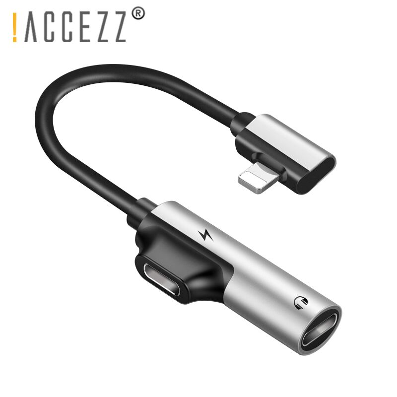 !ACCEZZ Dual Lighting Charging Adapter For Iphone X 8 7 Plus 2 In 1 Jack To Headphone Listening AUX Splitter Cables Connecter
