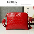 Summer Style PU Leather Crocodile Messenger Bag Crossbody Bag Elegent Womens Handbag Satchel Shoulder Bag