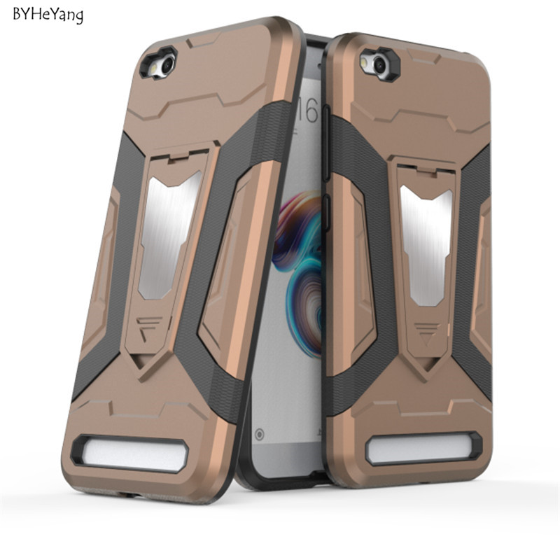 BYHeYang For Fundas Xiaomi Redmi 5A Case Redmi5A Cover Car Magnetic Phone Holder Anti-knock Armor Case For Xiaomi Redmi 5A 5.0