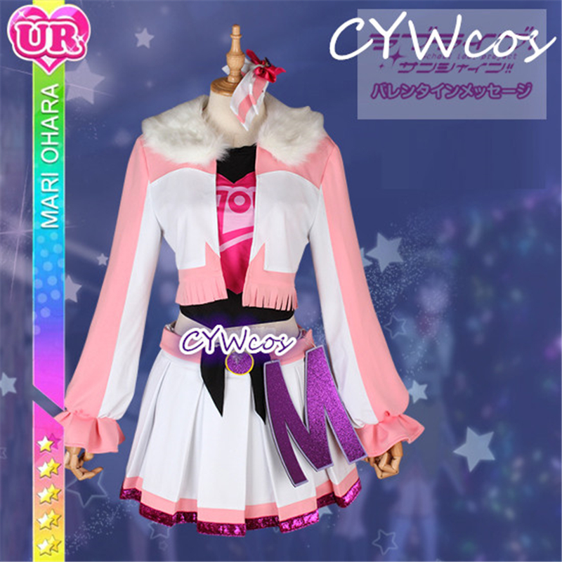 Custom Made Love Live Sunshine Aqours Ohara Mari Miracle Wave Cosplay Costume Uniforms Halloween Costumes Suits