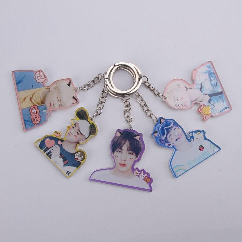 BTS Keyring Bangtan Boys Key Chain Love Yourself Acrylic Pendant Keychain Gift