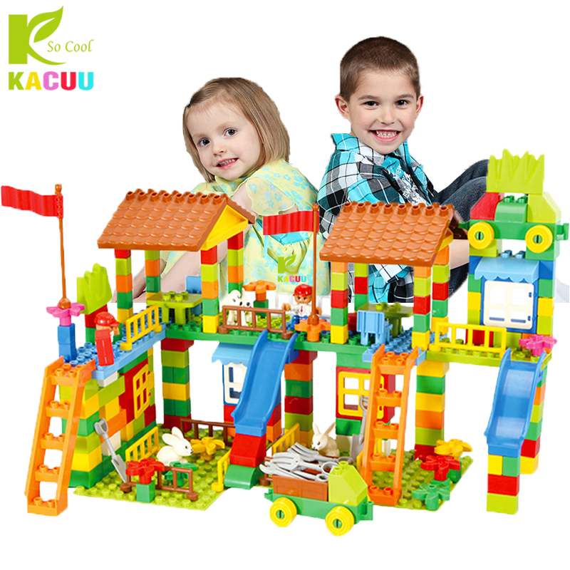 113226 шт большой строительные блоки ABS детские развивающие DIY парк развлечений собрать Кирпичи совместимы LegoINGlys конструктор duplo купить на AliExpress