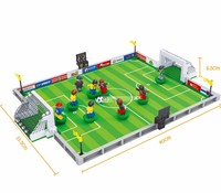 Model Building Kits Compatible With Lego City Football 251 Pcs 3D Blocks Educational Model Building Toys