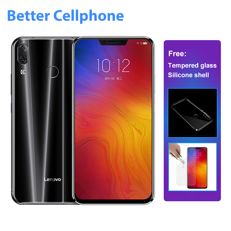 Lenovo Z5 L78011 huella digital de cara ID SmartPhone Snapdragon 636 octa-core 1,8 GHz Dual Rear 16MP + 8MP 6 GB RAM 64 GB ROM OTG 3300 Mah