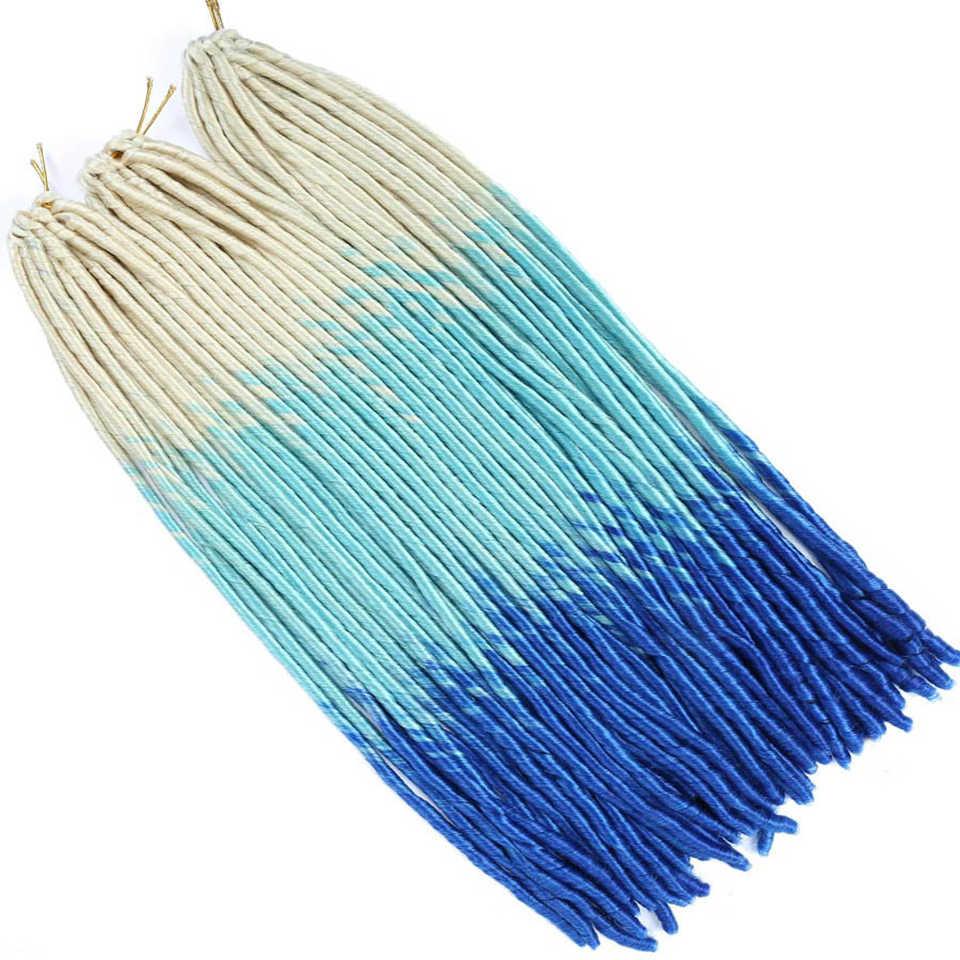MUMUPI синтетическое плетение волос Термостойкое волокно Прямые дреды Faux locs Омбре черный цвет крючком оплетка волос