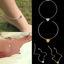 2017 Новая Мода Женщины Любят Сердце Лодыжки Цепь Ножной Браслет Браслет Пляж Сандалии Ног Ювелирные Изделия