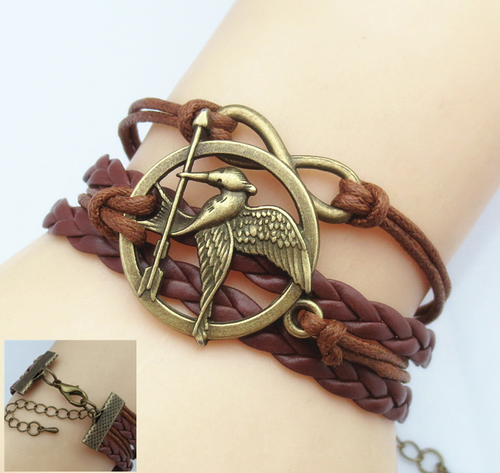 Multilayer Braided Bracelets Vintage Owl Harry Potter Wings Infinity Bracelet Deathly Hallows Bracelet & Bangle Good Gift