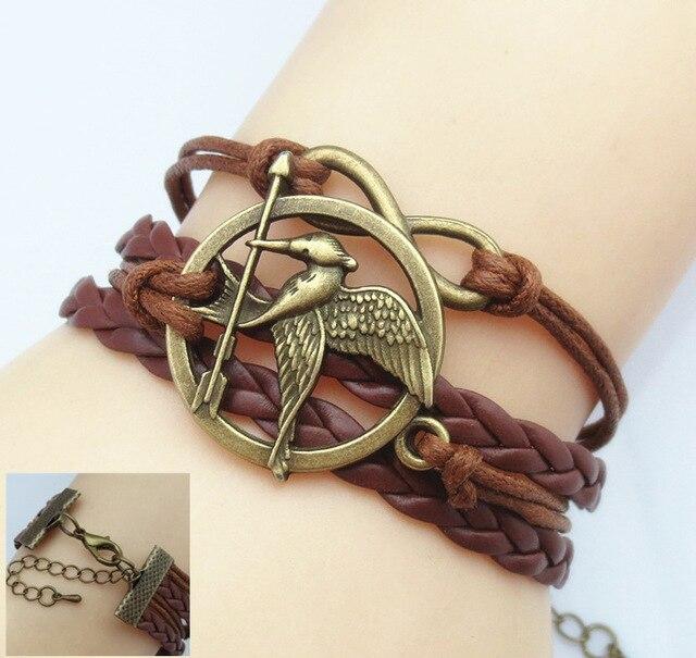 Vintage Owl Harry Potter Wings Infinity Bracelet Deathly Hallows Bracelet & Bangle
