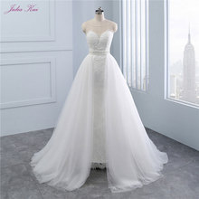 JULIA KUI luxurious 1 A-Line Wedding Dress Sleeveless