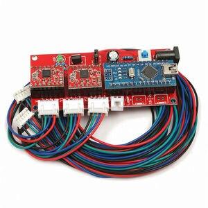 Image 4 - 65x50cm 100mw 5500mw DIY pulpit Mini Laser do cięcia/grawerowania maszyna do grawerowania DC 12V przyrząd do cięcia drewna/drukarka/regulacja mocy
