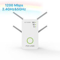 PIX LINK New 1200Mbps Wireless AC Dual Band Repeater AP Wireless Range Extender Wifi Signal Amplifier