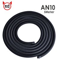 5M Universal AN10 Cotton Over Braided Oil Fuel Hose Pipe Fuel Tubing Light Weight Oil Hose