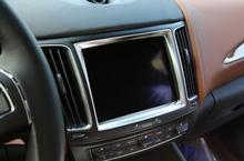 Хром Интерьер Центральной Сенсорный Экран Рамка Обложка Отделка Для Maserati Levante 2016 2017