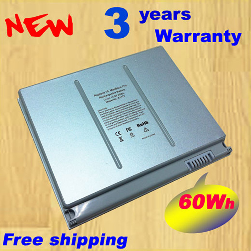 Free shipping Replacement Laptop Battery A1175 MA348 For Apple MacBook Pro 15