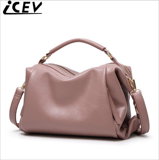 Icev Brand 2018 Fashion Boston Women Handbags Designer High Quality