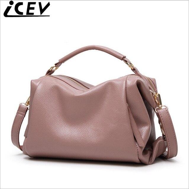 Icev Brand 2018 Fashion Boston Women Handbags Designer High Quality Pillow Bags Las Leather Ol Office