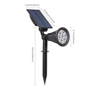 Image 3 - T SUNRISE 7 LED Solar Spotlight Auto Color Changing Outdoor Lighting Garden Solar Lamp Landscape Wall Light for Decoration