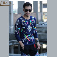 Latest Release Fashion Casual Men T Shirt Rock Style Men S Autumn Clothing Tops Male Bronzing