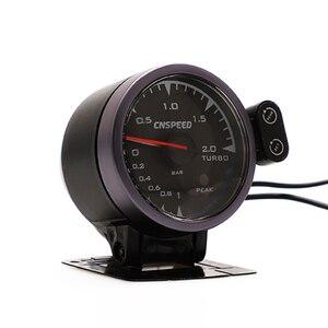 Image 2 - CNSPEED 60mm 7 Colors LED 12V BAR Turbo Boost Gauge Meter Sensor POD Universal For Honda Car Boost Turbo Meter Auto Gauge