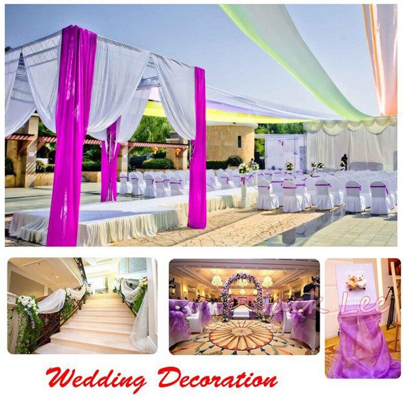 Haochu 20mlot 75cm Wide Sheer Organza Swag Fabric Wedding
