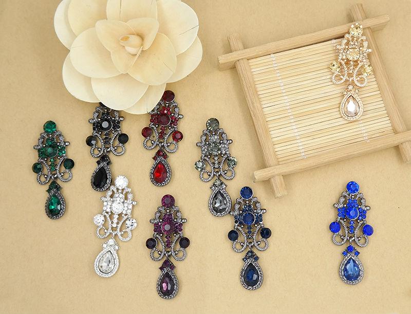 HTB1PgLuPXXXXXX0XVXXq6xXFXXXR Water Drop Earrings Vintage Rhinestone Crystal Earrings for Woman High Quality