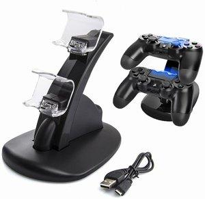 Image 2 - PS4 4 LED شحن USB مزدوج حوض الإرساء شاحن مهد محطة شحن أذرع التحكم في ألعاب الفيديو حامل لسوني