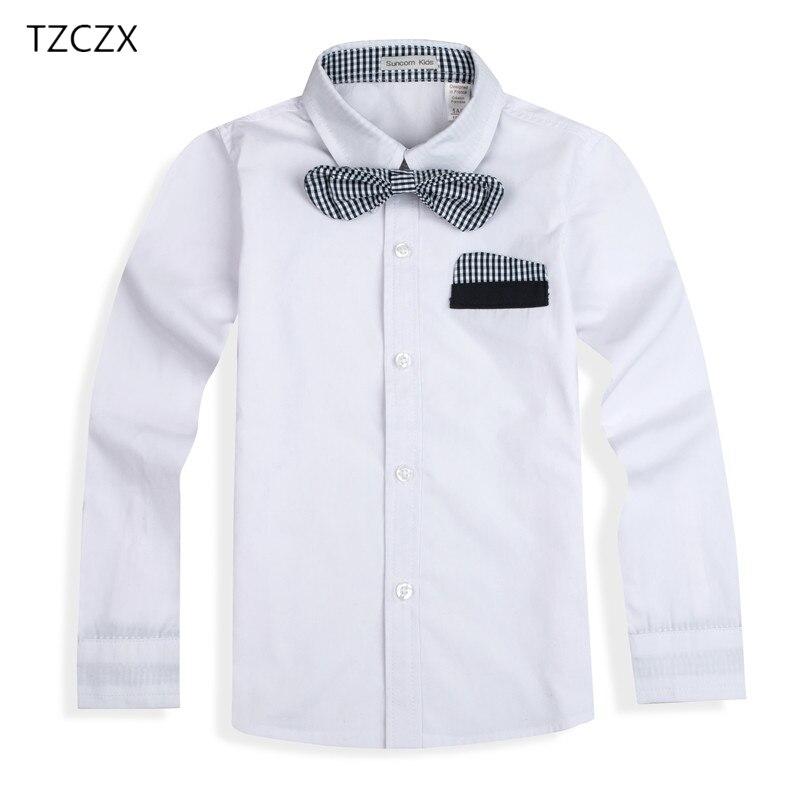 100% nueva moda niños camisas de algodón TZCZX-2225 con corbata para 3- 03ceedeab2ad3