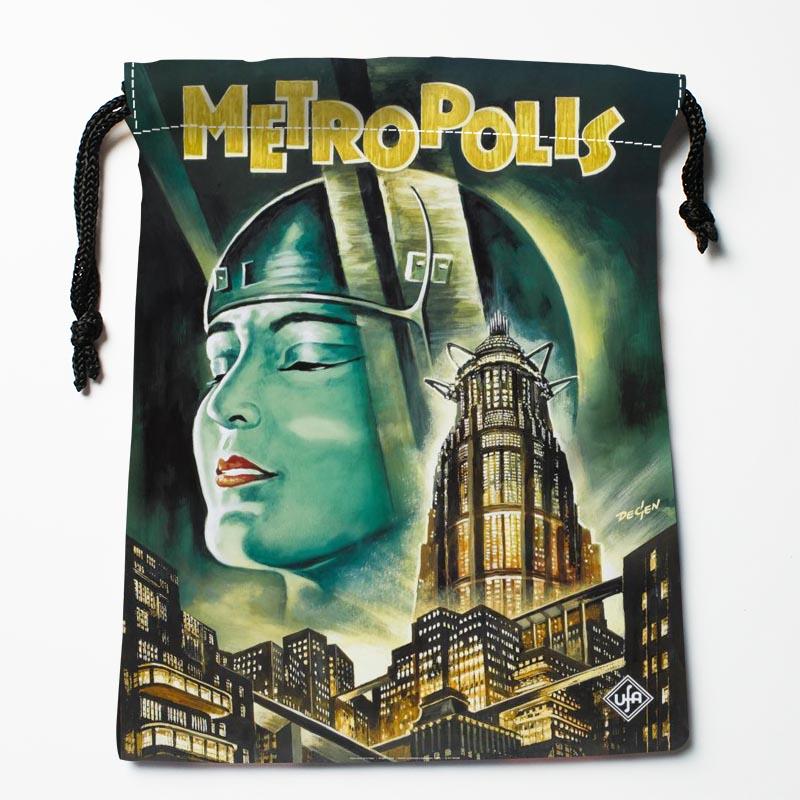 New Custom Metropolis  Bags Custom Drawstring Bags Storage Printed Gift Bags 27x35cm Compression Type Bags
