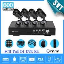 TEATE NVR CCTV Camera System 8CH full D1 security DVR recorder 600TVL Outdoor indoor Day Night IR Camera Surveillance Kit SNV-43