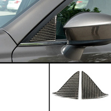 lsrtw2017 carbon fiber car window front triangle sticker for mazda3 2013 2014 2015 2016 2017 2018