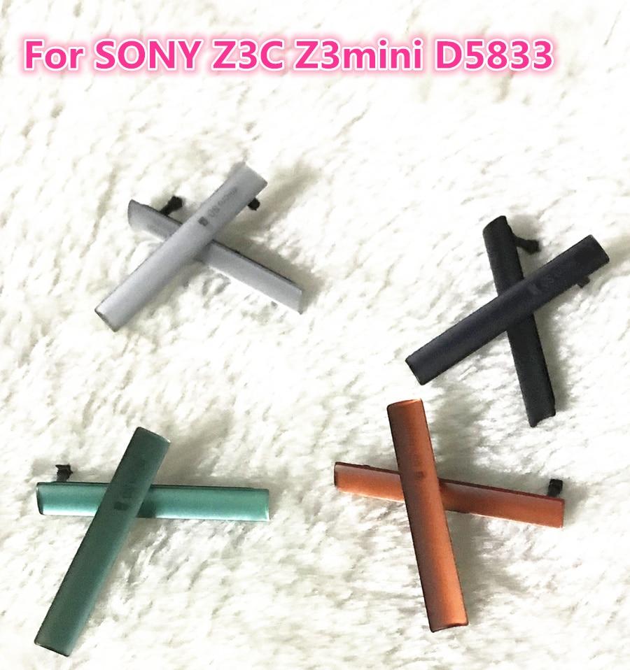 Black Warranty SIM Card Micro SD USB Charging Slot Port Dust Plug Block Cover For Sony Xperia Z3 Compact Z3c mini D5803 D5833