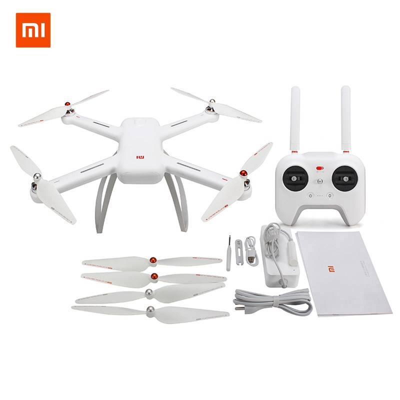 In Stock Original Xiaomi Mi Drone WIFI FPV Quadcopter With 1080P 4K Version 30fps HD Camera 3-Axis Gimbal GPS App RC Drone RTF genuine original xiaomi mi drone 4k version hd camera app rc fpv quadcopter camera drone spare parts main body accessories accs