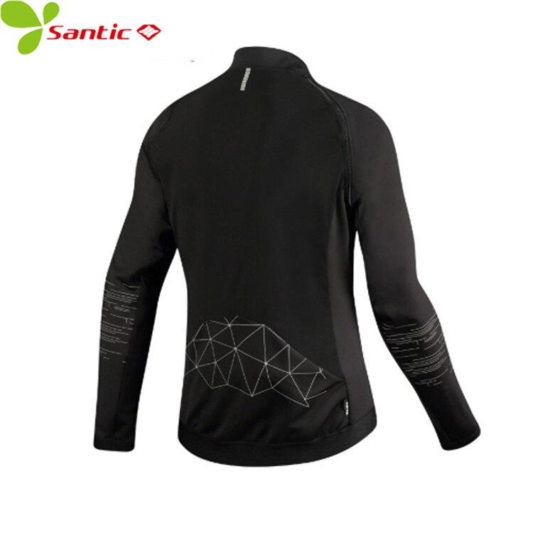 Santic Autumn Winter Removable Sleeve Cycling Jackets Therma Fleece Coat Windproof Reflective Bicycle Clothing Bike Windbreaker цена