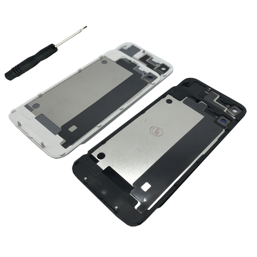 300232fbf0a403 For iPhone 4 4S Glass Back Cover Mobile Phone Case Battery Rear Door For  Apple iPhone