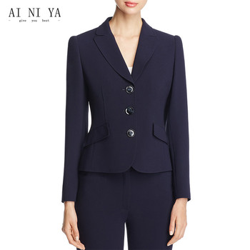 Jacket+Pants Women Business Suits Casual Jacket Long Sleeve 2 Piece Set Ladies Office Business Work Suits Three Buttons Custom