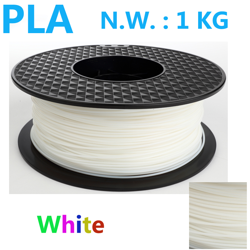 White color pla 1.75 3d printer filament USA natural 3d plastic filament China 3d pen pla filament 1.75mm 1kg impressora 3d pla pla filament 3 00mm 1kg 2 2lbs white color for 3d printer plastic reprap wanhao makerbot free shipping