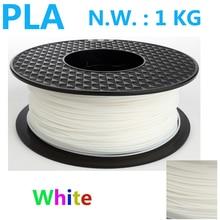 Weiße farbe pla 1,75 3d-drucker filament USA natürliche 3d kunststoff filament China 3d stift pla filament 1,75mm 1 kg impressora 3d pla