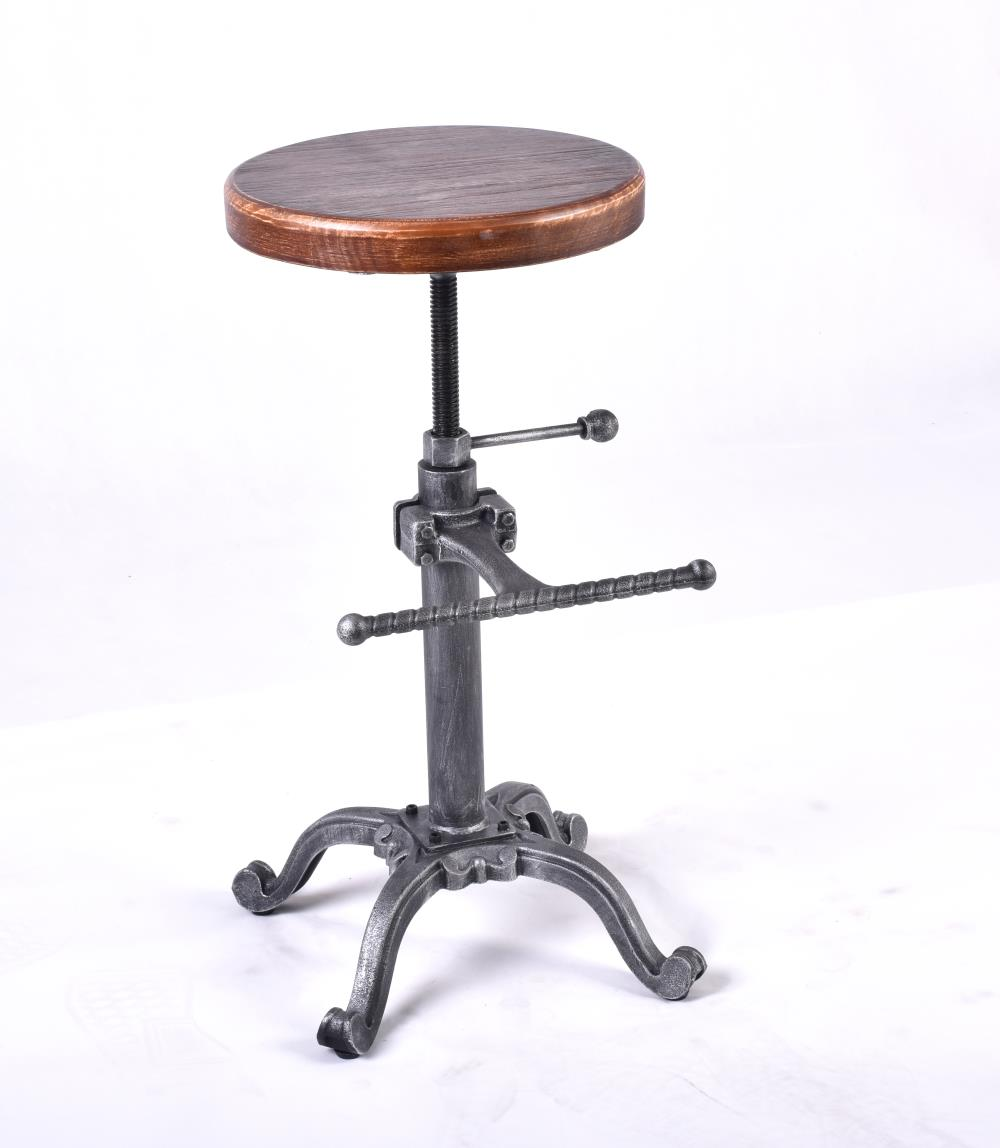 Magnificent Us 169 0 Chair Industrial Furniture Vintage Rustic Retro Stool Swivel Bar Chair Cast Iron Adjustable Height Wooden Seat Bar Stools In Wind Chimes Caraccident5 Cool Chair Designs And Ideas Caraccident5Info