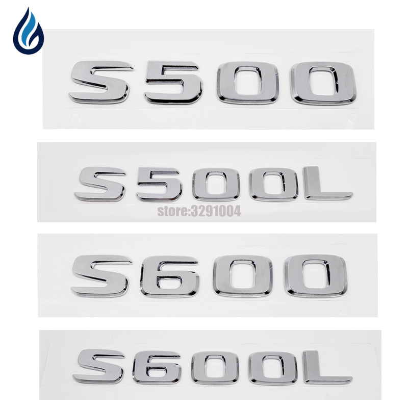 ABS S500 S500L S600 S600L Car Trunk Rear Letters Badge Emblem Decal Sticker For Mercedes Benz S Class W220 W221 W204 W203 W211 abs wheel speed sensor rear left rl fit for mercedes benzs 2205400417 dz0604417