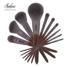 Sylyne набор кистей для макияжа 10 шт. мягкие высококачественные полностью Профессиональные кисти для макияжа Набор деревянных ручек кисти для макияжа инструменты