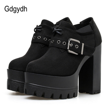 Gdgydh Fashion Rivets Ladies Block Heel Shoes Spring Autumn
