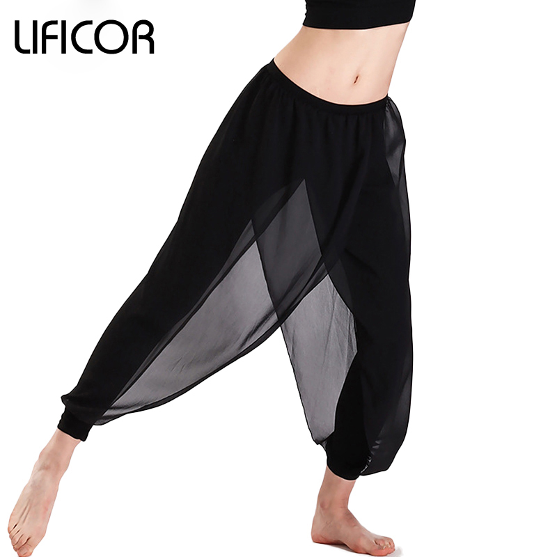Yoga Pants For Women Fitness Sports Leggings Mesh Pants Capri Workout Sweatpants For Female Sports Trousers mesh panel leggings