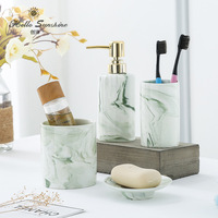 Washroom Accessory Marble Bathroom Accessories Set Toilet Toiletries Soap Dispenser,Toothbrush Holder Bathroom Five piece Suit