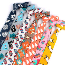 Cartoon Print Tie For Men Women Skinny Neck Tie For Wedding Casual Cartoon Neckties Classic Suits Slim Cotton Linen Neck Ties