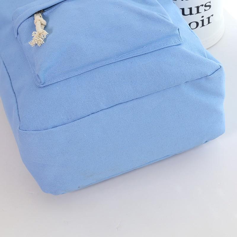 Teenage Backpacks Girls Canvas Backpack Leisure Student Feminine Backpack Female School Bagpack Girl Mochila Femininal Nbxq05 #5